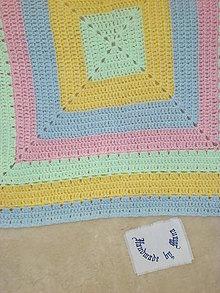 Úžitkový textil - Háčkovaná detská deka - 7254864_