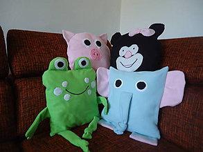 Úžitkový textil - Oblečka na vankúšik žabka - 7254992_