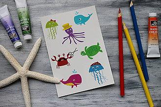 Detské doplnky - Dočasné tatovačky - morský svet - 7254716_