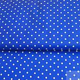 Textil - tmavomodré bodky väčšie; 100 % bavlna, šírka 140 cm, cena za 0,5 m - 7256067_