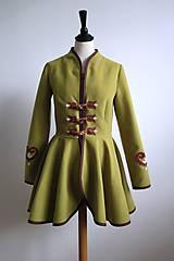 Kabáty - folk kabátik s ornamentami - zelený - 7257454_