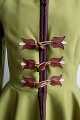 Kabáty - folk kabátik s ornamentami - zelený - 7257455_