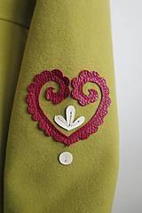 Kabáty - folk kabátik s ornamentami - zelený - 7257456_