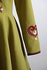 Kabáty - folk kabátik s ornamentami - zelený - 7257457_