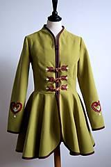 Kabáty - folk kabátik s ornamentami - zelený - 7257458_
