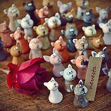 Darčeky pre svadobčanov - Darčeky pre svadobných hostí, menovky - mačičky - 7257828_