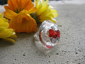 Prstene - Farebný prsteň poľgula - 7256334_