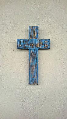 Dekorácie - Kríž modrý - 7255943_
