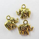 Prívesok zlatý sloník