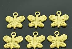 Prívesok zlatý motýlik