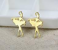Prívesok zlatá baletka