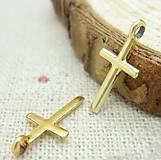 Prívesok zlatý krížik