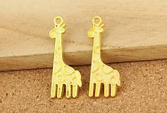 Prívesok zlatá žirafa