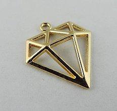 Komponenty - Prívesok zlatý diamantík - 7255722_