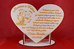 Darčeky pre svadobčanov - Drevene srdiečko 27x20cm ako poďakovanie rodičom 25 - 7255117_