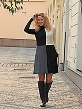 Šaty - Šachovnicové šaty s rolákem - 7259968_