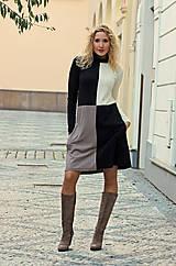 Šaty - Šachovnicové šaty s rolákem - 7259997_