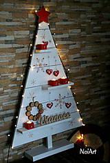 Dekorácie - Vianočný stromček prírodný biely - 7261299_