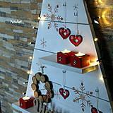 Dekorácie - Vianočný stromček prírodný biely - 7261300_