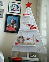 Dekorácie - Vianočný stromček prírodný biely - 7261301_