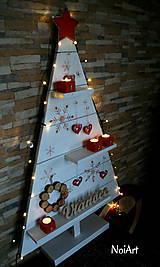 Dekorácie - Vianočný stromček prírodný biely - 7261302_