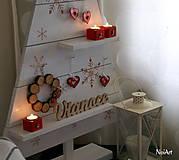 Dekorácie - Vianočný stromček prírodný biely - 7261418_