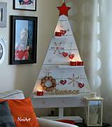 Dekorácie - Vianočný stromček prírodný biely - 7261476_