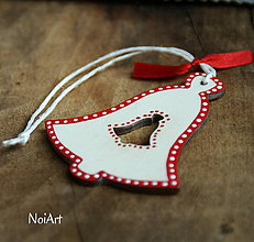 Dekorácie - Vianočná ozdoba zvonček folk - 7258735_
