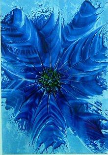 Obrazy - Modrý kvet - 7260878_