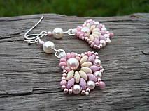 - Náušnice Pearly Rose - 7262034_