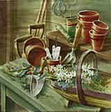 - S801 - Servítky - vidiek, záhrada, košík, náradie - 7260517_