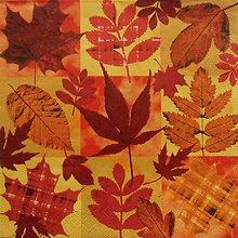 Papier - S802 - Servítky - listy, jeseň, autumn, javor - 7260521_