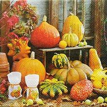 Papier - S808 - Servítky - tekvica, hokaido, jeseň, autumn, veniec - 7262180_