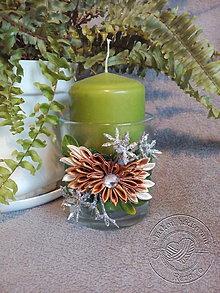Svietidlá a sviečky - Vianočný svietnik - 7260764_