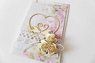 Papiernictvo - pohľadnica svadobná - 7258751_