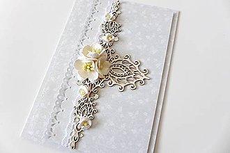 Papiernictvo - pohľadnica svadobná - 7258853_