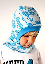Detské čiapky - NA SKLADE!! - Kukla obojstranná s lemom - MERINOVLNA - veľ. 40-41-42 (3/6m - 12m) - 7259384_