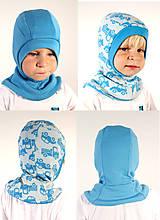 Detské čiapky - NA SKLADE!! - Kukla obojstranná s lemom - MERINOVLNA - veľ. 37-38-39 (0-6m) - 7260560_