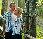 Dámske a pánske tričká, párové, batikované, maľované, etno KERKA