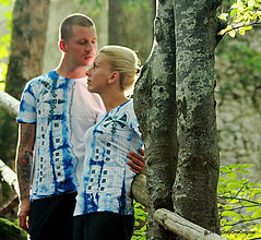 Tričká - Dámske a pánske tričká, párové, batikované, maľované, etno KERKA - 7259267_