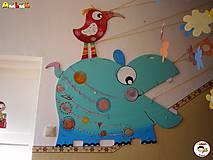 Detské doplnky - Dekorácia na zavesenie - Hroch - 7262439_