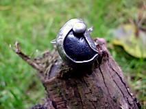 - prsteň cín + oceľ s hematitom - 7258830_