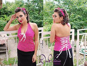 Topy - Pink Pin-Up Top - 7261406_