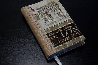 Papiernictvo - Obal na knihu - Paríž, Londýn, Rím I. - 7262303_