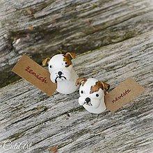 Darčeky pre svadobčanov - Darčeky pre svadobných hostí, menovky - anglický buldog - 7259006_