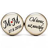 Od teraz už navždy s iniciálami a dátumom svadby