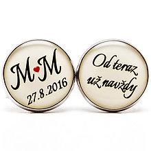 Šperky - Od teraz už navždy s iniciálami a dátumom svadby - 7259633_