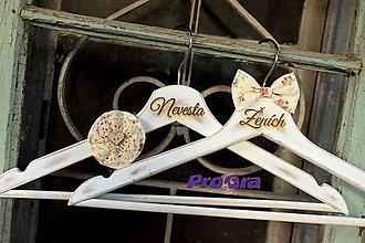 Nábytok - Svadobné Vintage vešiaky I. - 7259600_