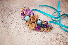 Náhrdelníky - Jesenný kvetinový náhrdelník