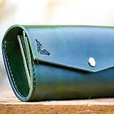 Peňaženky - Vintage peňaženka zelená  - 7261865_